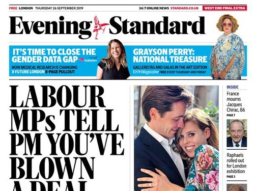 evening standard page