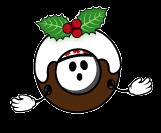 coconut christmas pudding